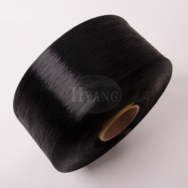 Black polypropylene high-strength yarn