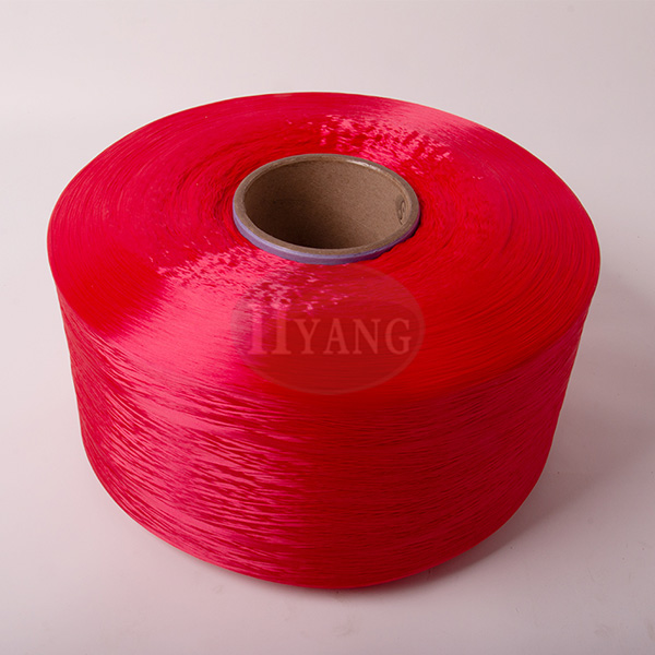 Red polypropylene high strength yarn