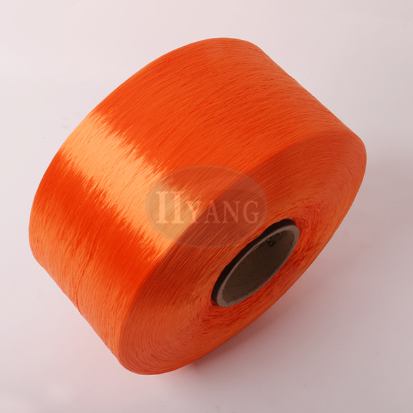 Orange polypropylene high strength yarn